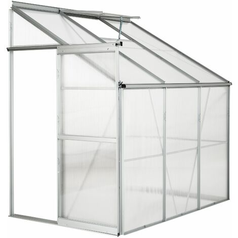 """main image of """"Greenhouse lean-to - lean to greenhouse, greenhouse plastic, polycarbonate greenhouse - transparent"""""""
