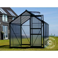 Greenhouse Polycarbonate 5.92 m², 1.9x3.12x2.01 m, Green
