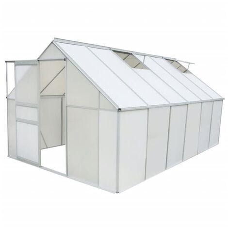 Greenhouse Polycarbonate and Aluminium 371x250x195 cm