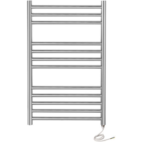 Greenhoused Riga Electric Stainless Steel Towel Rail Warmer Mirror Polished Finish