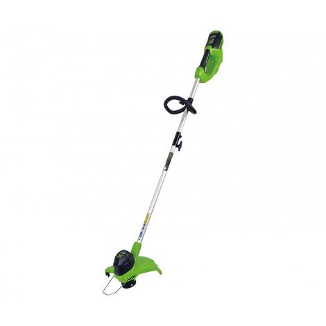 Greenworks 40V String Trimmer 10S motor with 2Ah battery and charger