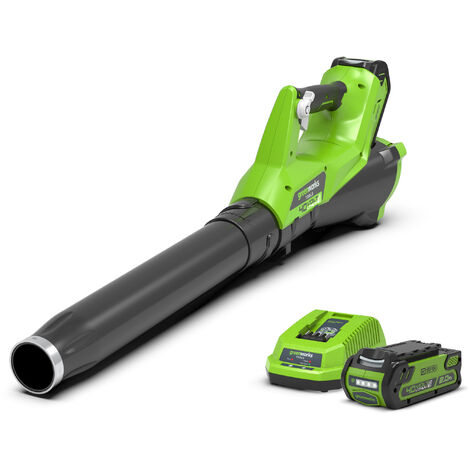 Greenworks G40ABK2 Cordless 40v Garden Axial Leaf Blower 110mph with Battery