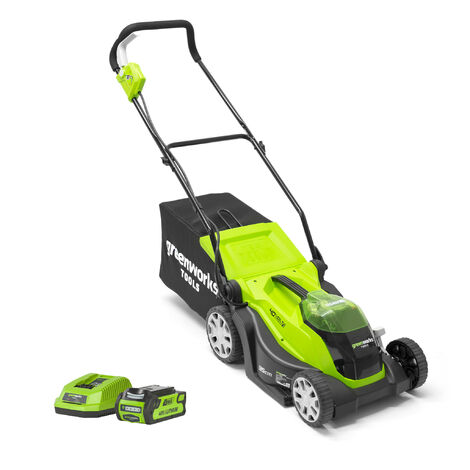Greenworks G40LM35K2 Cordless 40v Lawn Mower 35cm/14in with Battery