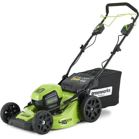 Greenworks GD60LM46SP Cordless 60v Self Propelled Lawn Mower 46cm/18in Bare Unit