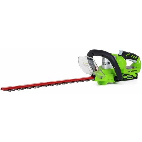 Greenworks Hedge Trimmer without 24 V Battery Deluxe G24HT57 2200107 - Green