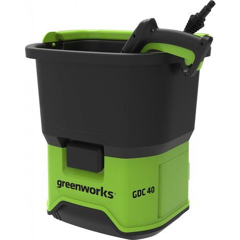 Greenworks Hochdruckreiniger GDC40 300 l/h, für 40V Akkusystem, ohne Akku und Ladegerät