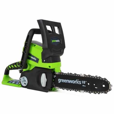 Greenworks Kit motosierra con batería 24V 2Ah G24CS25 25cm 2000007UA