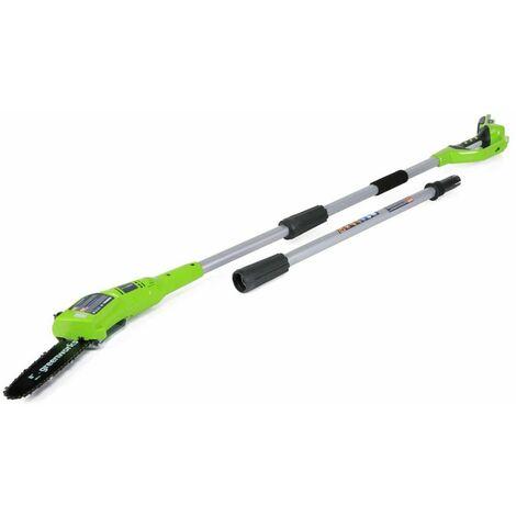 Greenworks Scie à perche avec batterie 24 V 2 Ah G24PS20 2000107UA