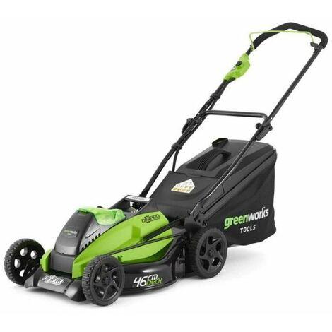 GREENWORKS Tondeuse électrique GD40LM45K4 - 40 V - 45 cm - Moteur sans balai - 1 batterie 4 Ah + 1 chargeur - Vert