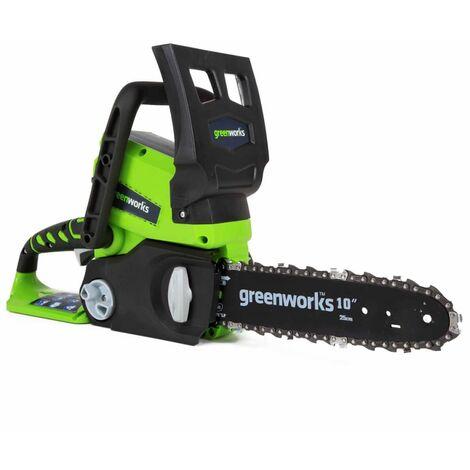 Greenworks Tronçonneuse sans batterie 24 V G24CS25 25 cm 2000007