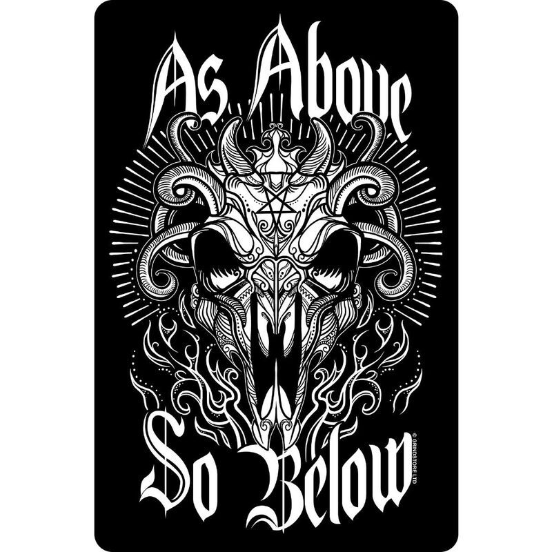 Image of As Above So Below Plaque (One Size) (Black/White) - Greet Tin Card