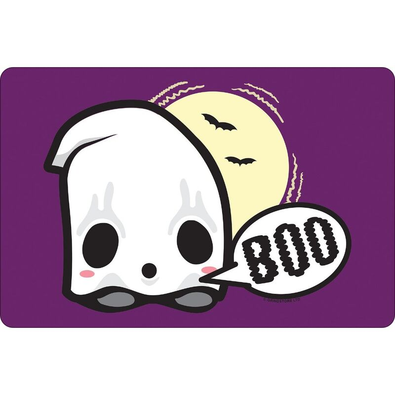 Image of Baby Ghost Halloween Plaque (One Size) (Purple) - Greet Tin Card