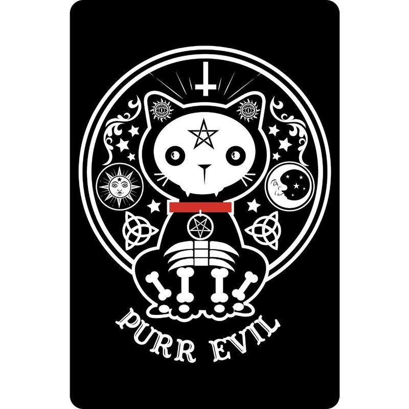 Image of Dead Kitty Plaque (One Size) (Black/White) - Greet Tin Card