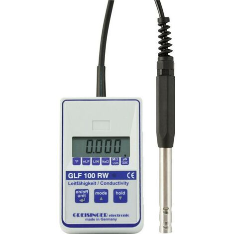 Greisinger Kombi-Messgerät GLF 100RW Leitfähigkeit, Temperatur 0.000 - 100.0 µS kalibriert Werkss Q77665