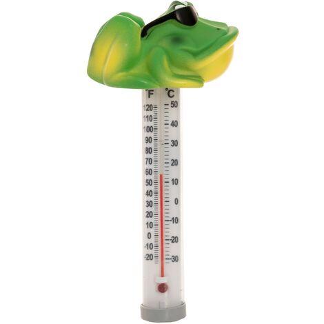 grenouille Thermomètre de piscine flottant avec motif animalier