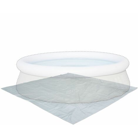 Grey 330 x 330cm ground cloth for Ø300cm above ground round frame pool, floor protector for Agate free standing swimming pool