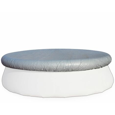 Grey Ø330cm protective cover for Ø300cm round above ground pool, cover, coverage