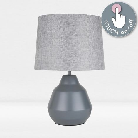 """main image of """"Modern 39cm Touch Operated Table Lamp Bedside Lights with Shades"""""""