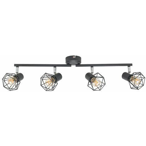 Grey 4 Way Spot Light Bar Ceiling Light Metal Shades