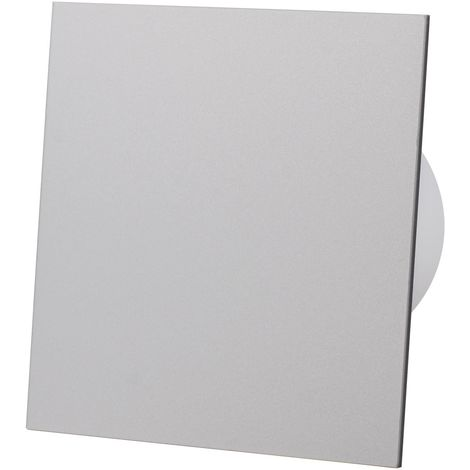 Grey Acrylic Glass Front Panel 100mm Standard Extractor Fan for Wall Ceiling Ventilation