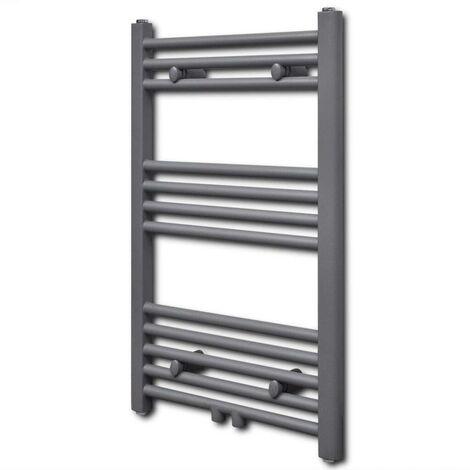 Grey Bathroom Central Heating Towel Rail Radiator Straight 500x764mm VD04172