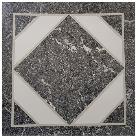 Grey/ Black Marble FLOOR TILES PACK OF 1 (4 TILES)