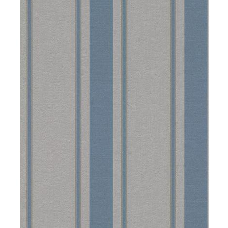 Grey Blue Striped Glitter Wallpaper Shimmer Paste Wall Textured Rasch My Moments