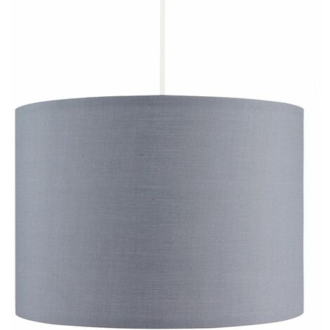 Grey Ceiling Table Floor Lamp Light Shade + 10W LED Gls Bulb - Warm White