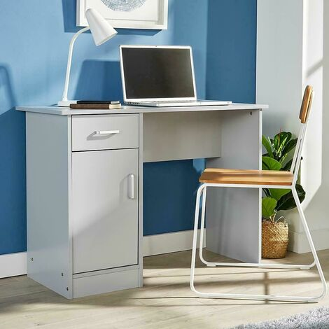 """main image of """"Grey Desk 1 Drawer 1 Door Compact Computer Workstation Home Office Table Tyler"""""""