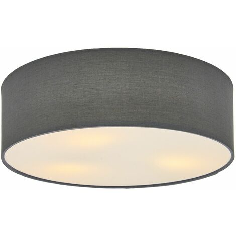 Grey fabric ceiling light Sebatin