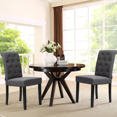 Grey Fabric Dining Chair Kitchen Chairs Dining Table Chairs
