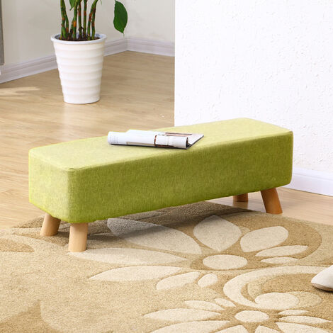 Grey Fabric Ottoman Footstool Seat Pouffe Stool Bench Footrest Chair