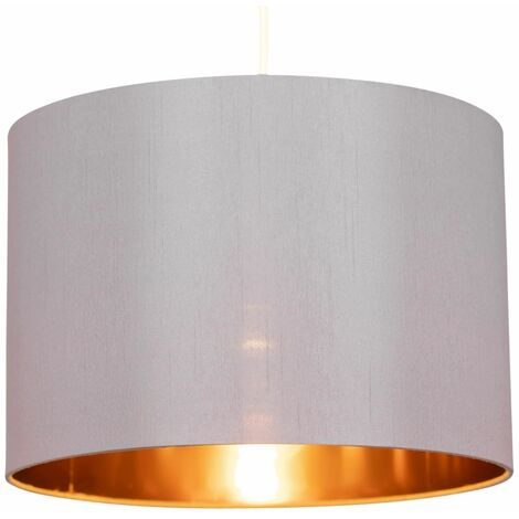 """main image of """"Modern Faux Silk with Metallic Inner Easy Fit Pendant Light Shades Ceiling Lighting"""""""