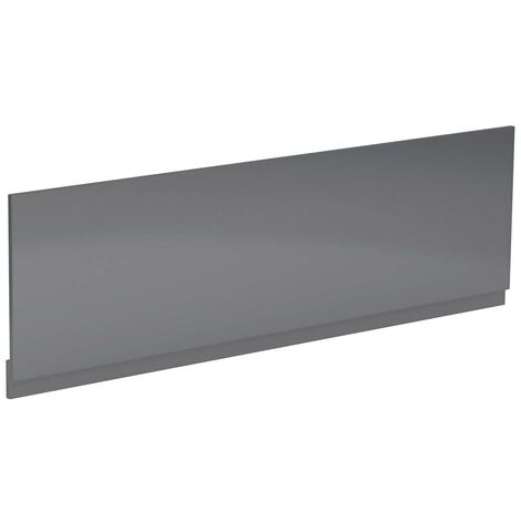 Grey Gloss 1700mm Bath Front Panel
