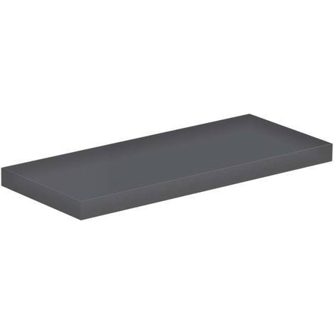 Grey Gloss 300mm Floating Bathroom Shelf
