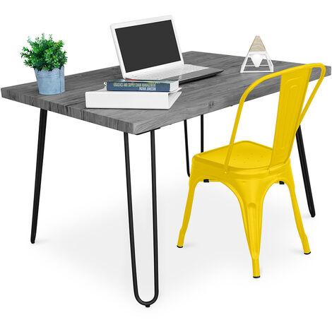 Grey Hairpin 120x90 Desk + Tolix Chair