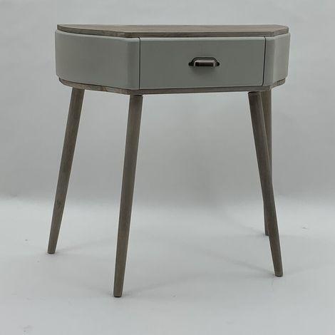 Grey Half Moon Table