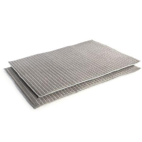 Grey Microfibre Drying Mats - Set of 2 | Pukkr