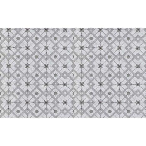 Grey Moroccan Tiles Wallpaper Geometric Retro Vinyl Paste The Wall Erismann