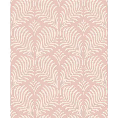 Grey Pink Glitter Feather Embossed Wallpaper Paste The Wall Vinyl