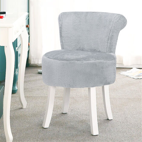"""main image of """"Plush Shaggy Dressing Table Stool Chair Piano Makeup Seat Vanity Bedroom Home"""""""