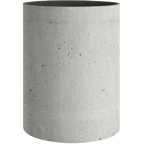 Grey Polyresin Round Vase