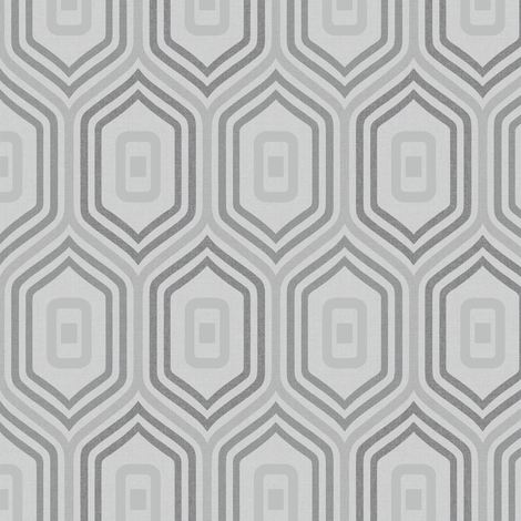 Grey Retro Geometric Funky Wallpaper Glitter Sparkle Textured Entity Grandeco