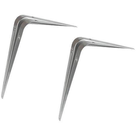 """Grey Shelf Bracket 4"""" X 3"""" (100X75Mm) - 4 Pack"""