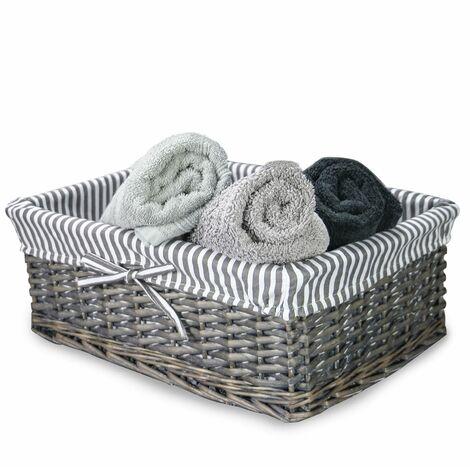 "main image of ""Grey Wicker Baskets Large | M&W - Grey"""