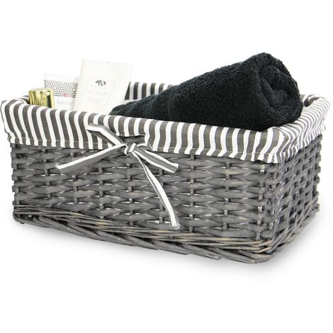 "main image of ""Grey Wicker Baskets Medium | M&W - Grey"""