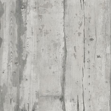 Grey Wood Effect Wallpaper Paste The Wall Textured Vinyl Grains