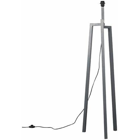 Grey Wooden Tripod Style Step Floor Lamp Base - Grey
