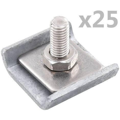 Grid Mat Connector 25 Sets Silver