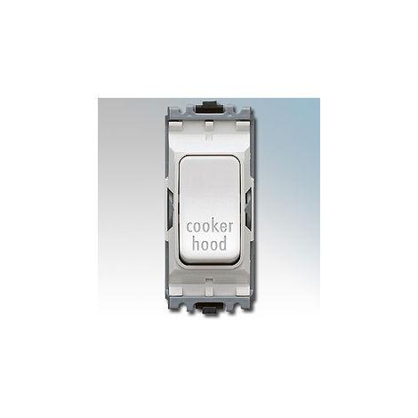 Grid Plus 20A DP 1W 'Cooker Hood' Switch Module (K4896CHWHI)